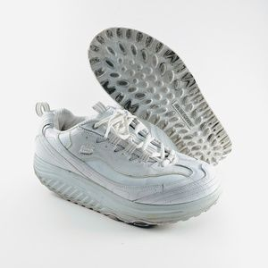 Sketchers Shape-Ups White on White Size 9
